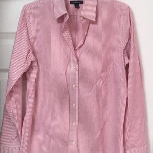 Lands End No Iron Pinpoint Oxford Size 12.